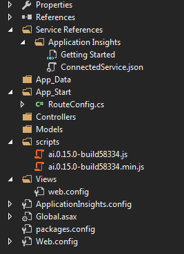 folder structure and references for empty mvc project
