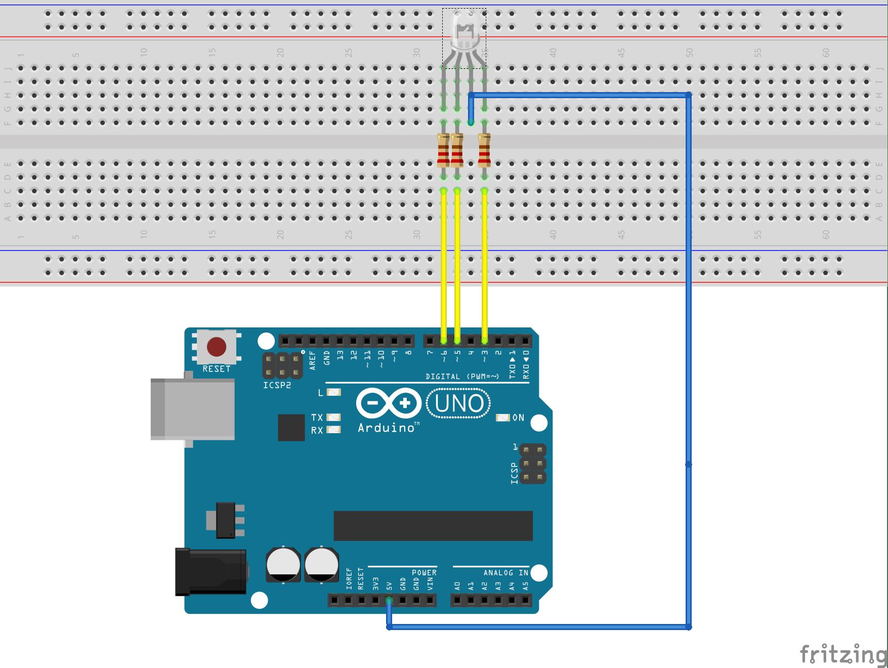 control rub led using arduino