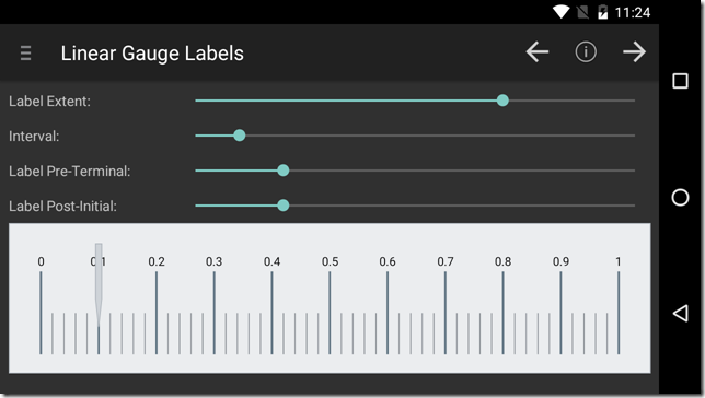 android linear gauge