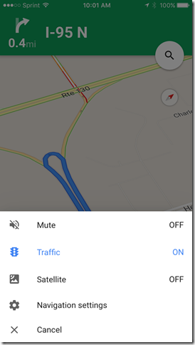 google maps app mute off setting