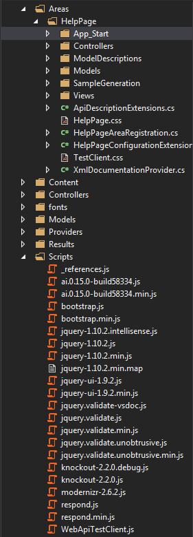 script and area folder