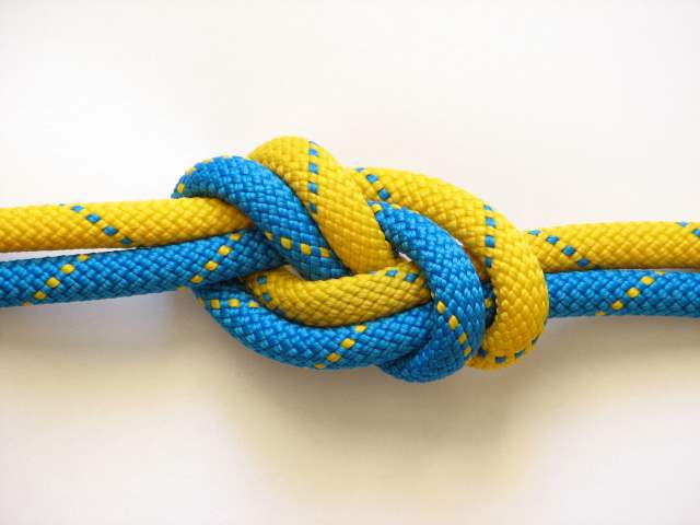 two knots in two pieces of rope