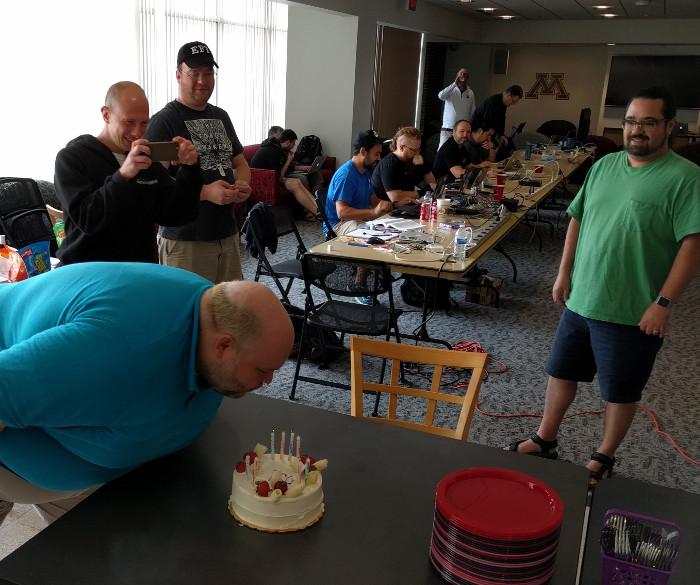 dj's birthday cake