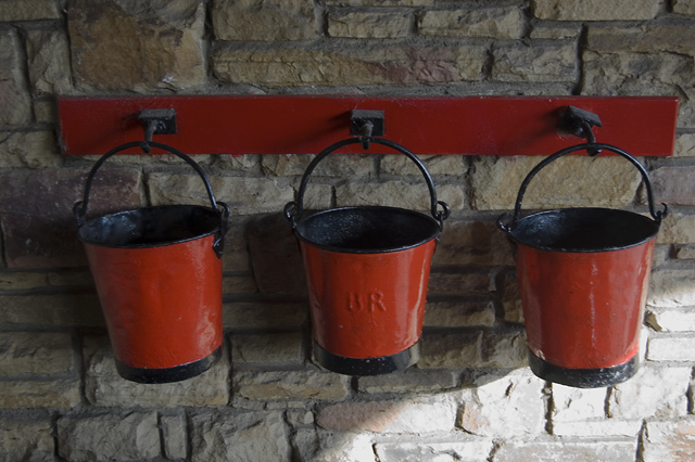 fire buckets image licensed through creative commons via paul harrop - http://www.geograph.org.uk/photo/2666296