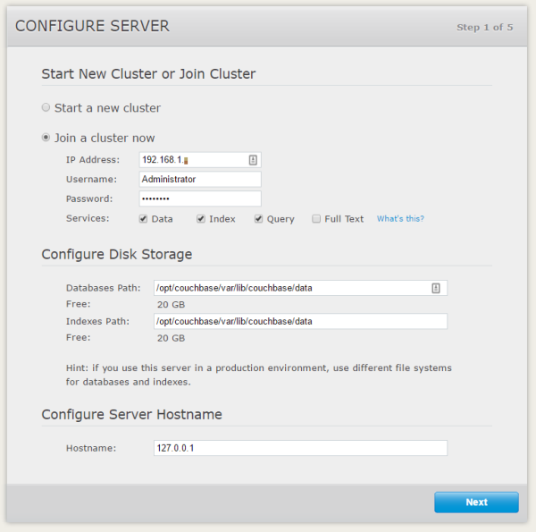 join a couchbase node to a couchbase cluster