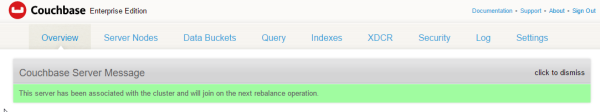 a couchbase node has been successfully joined to a couchbase cluster