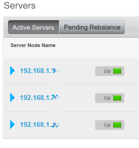 list of nodes in a couchbase cluster