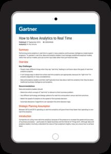 gartner report: real-time analytics