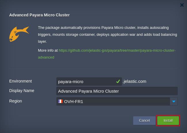 install payara micro cluster