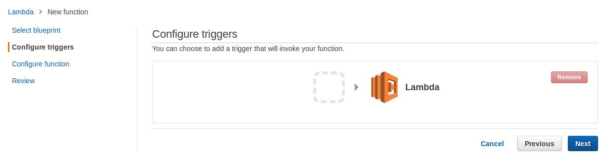aws lambda configure triggers