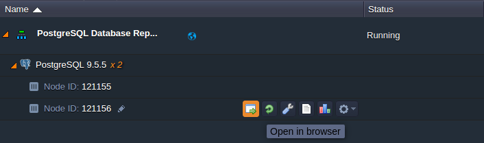 open postgresql admin panel