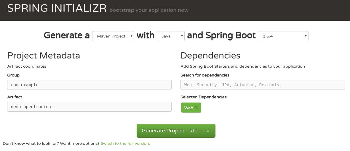 spring boot generator