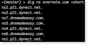 dig showing multiple dns providers