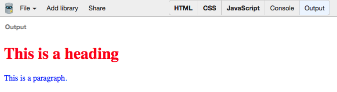 Figure 3 The HTML, CSS and JavaScript are all used to produce the web page output