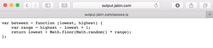 Figure 6 A JavaScript file on JS Bin