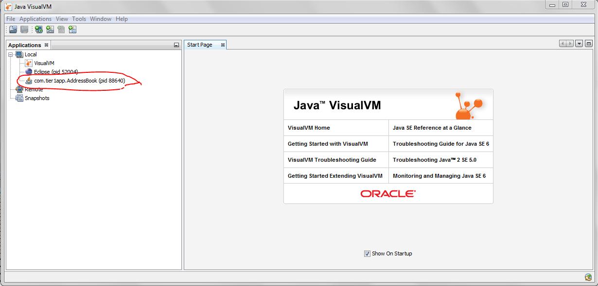 Fig: Java Visual VM