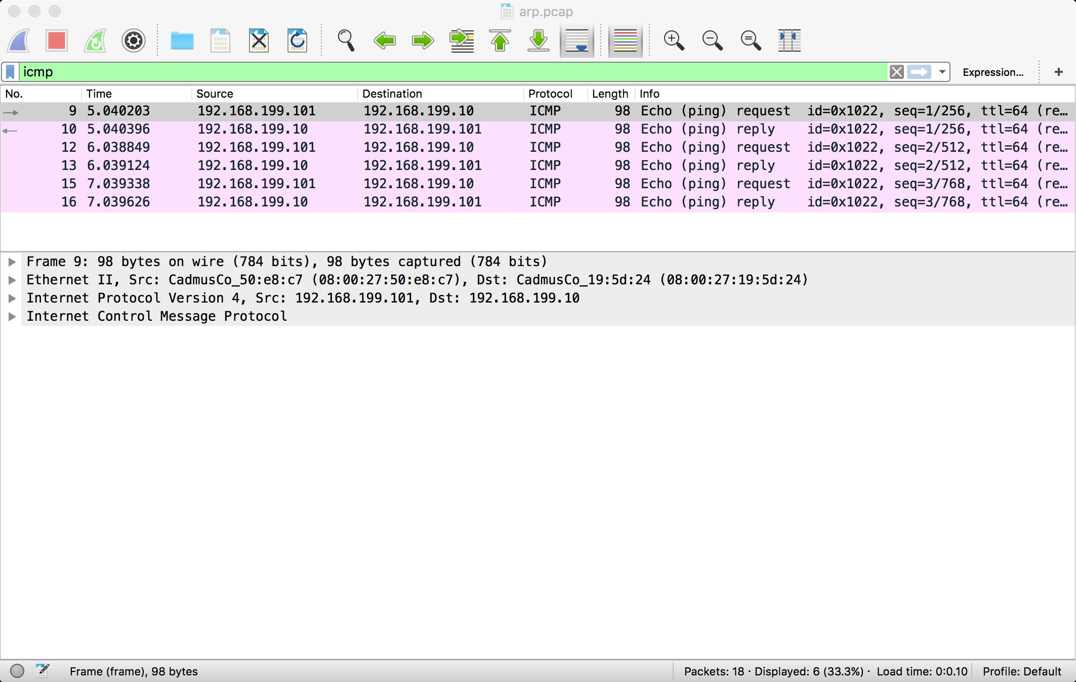 ICMP Example