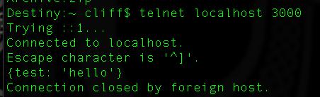 Telnet no bueno.