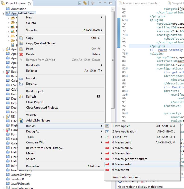 Figure 3: Installing dependencies using Maven install