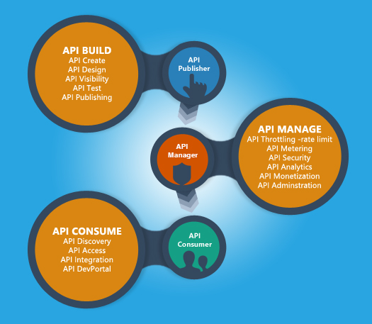 Fig-1: API life-cycle, personas and tasks