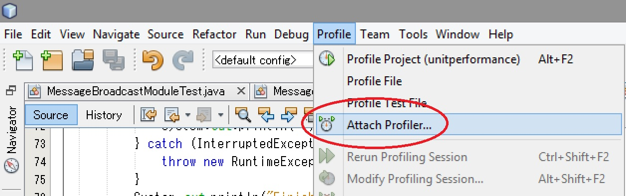 Attach Profiler - step 1