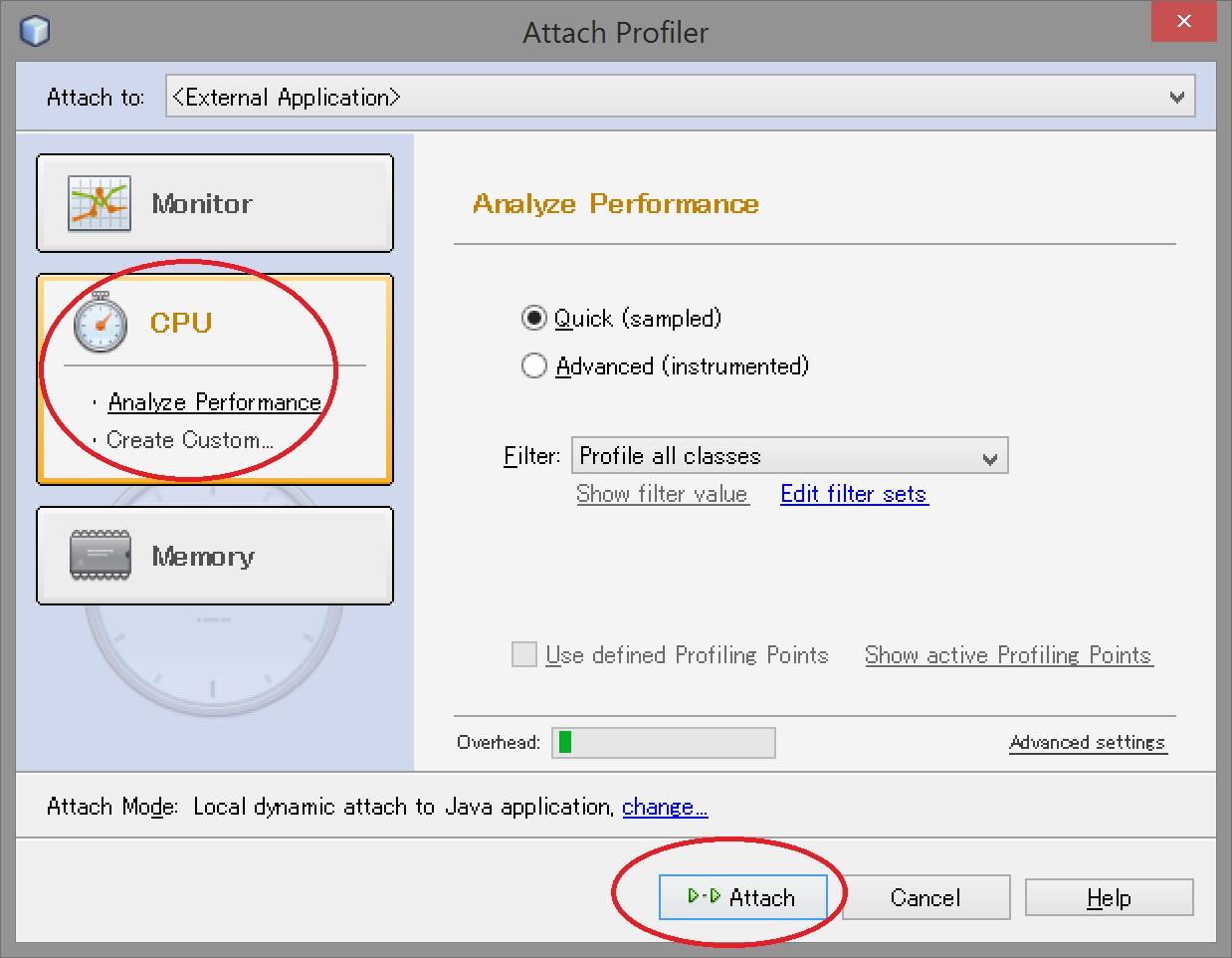 Attach Profiler - step 2