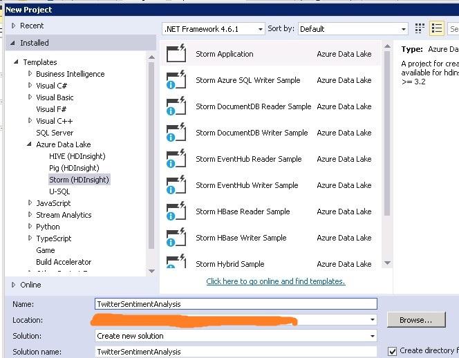 Figure 4.1 Storm application in Visual Studio