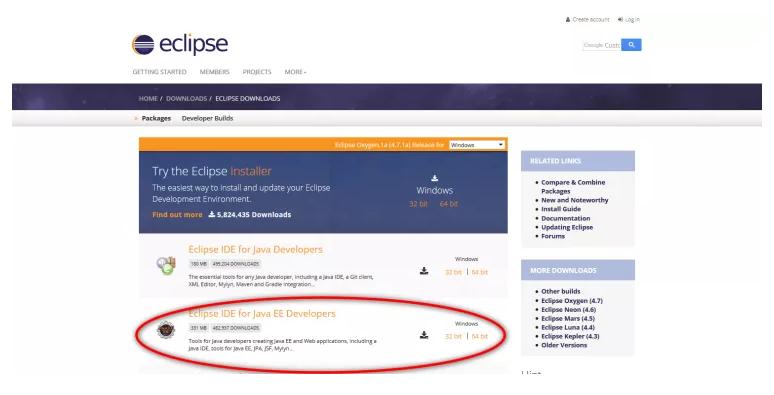 Eclipse java enterprise developer tools online