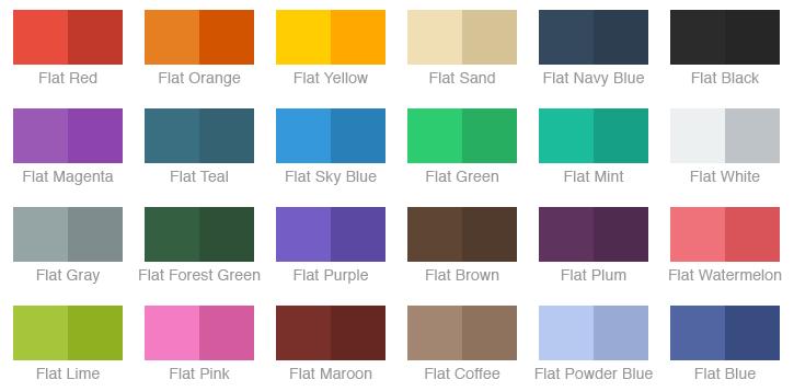 Chameleon basic flat colors