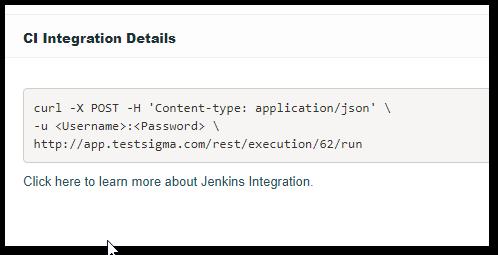 CI_Integration_details-Testsigma_Execution_Details_page