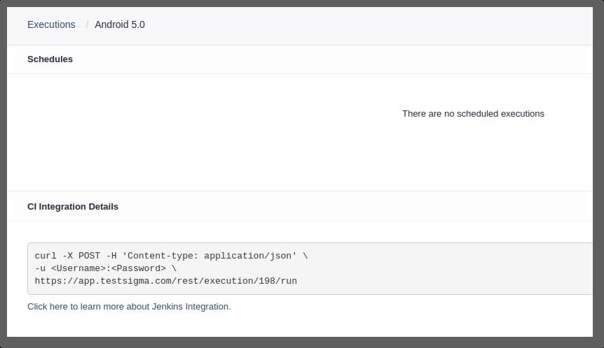 CI Integration Details