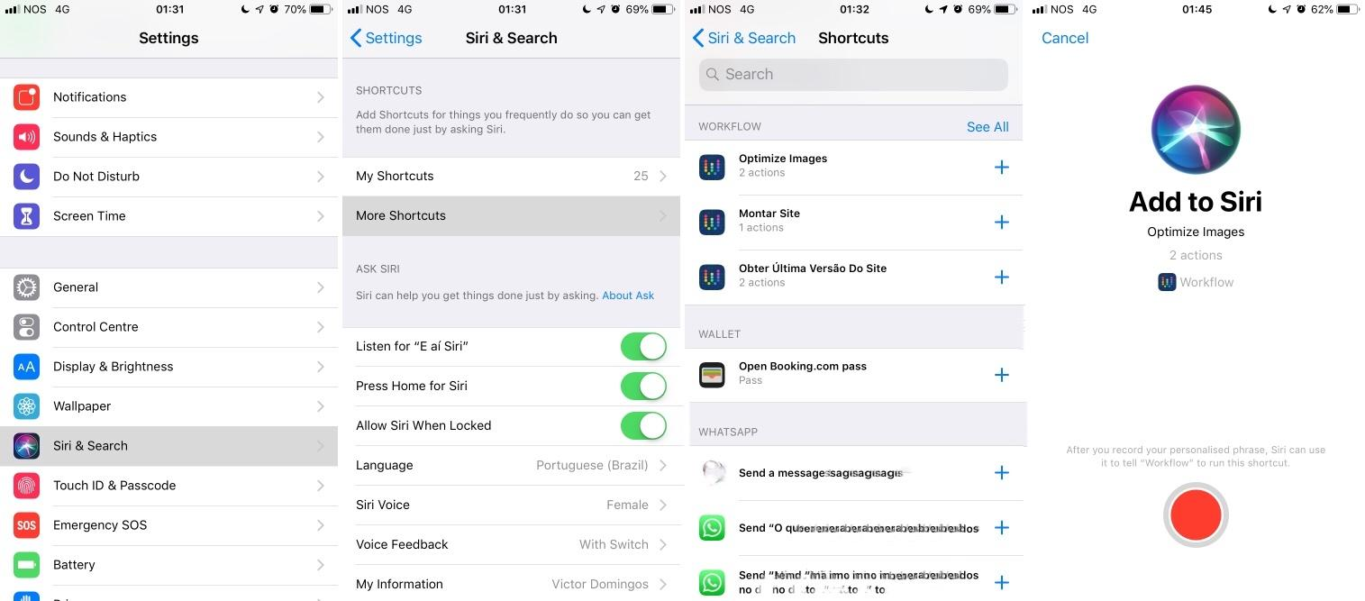 Using Siri Shortcuts on iOS 12 to deploy a static website from an iPhone