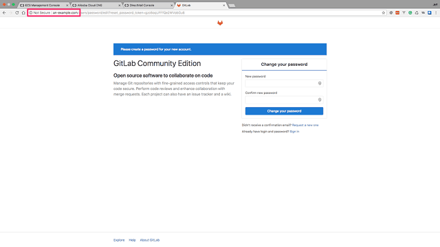 Your GitLab installation without SSL