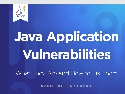 Java Application Vulnerabilities